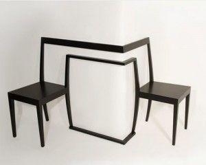 Unusual Double Chair Designed For Corner Use   Hörnstol Chair