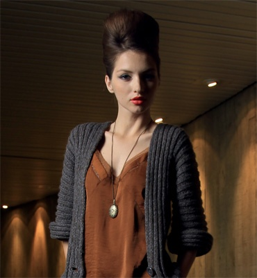 Modèle gilet ligne kimono femme