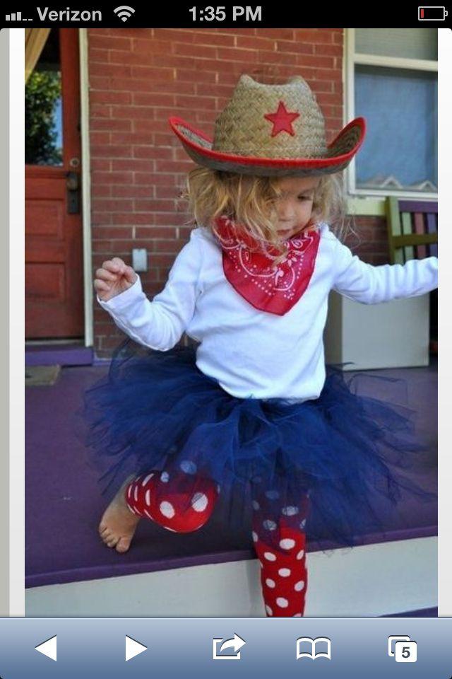Toddler Cow Girl Costume w/tutu