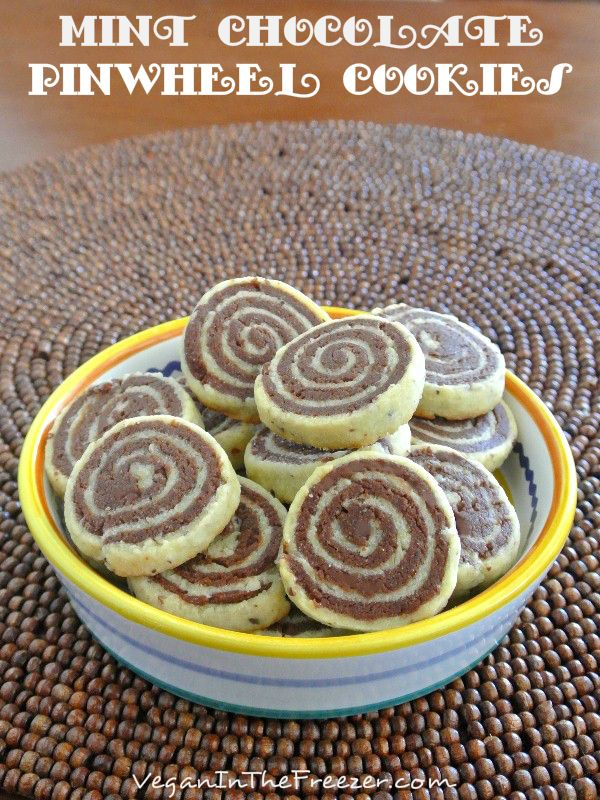 Here is a very special dessert after your main meal.  Mint Chocolate Pinwheel Cookies have two of everyone's favorite tastes rolled in layers.  Chocolate and Mint!