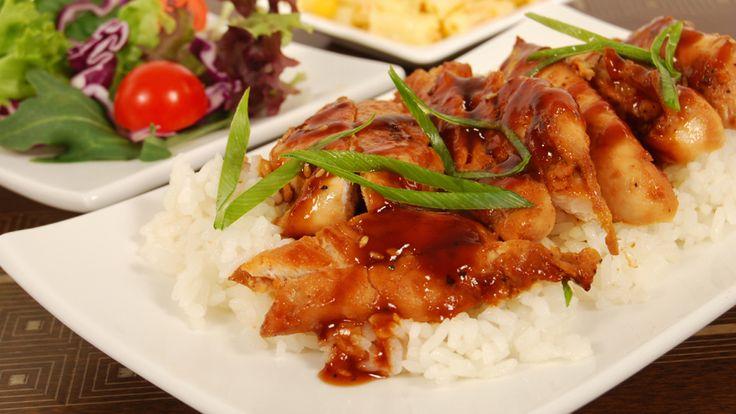 Teriyaki-glazed Chicken Strips