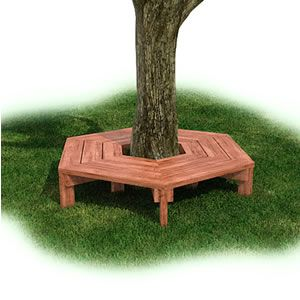 playground- Around the Tree-  Install the Wrap Around Tree Bench around a tree on your playground to provide the children with a natural, shaded seating area. The seating area is perfect for children to lean against the tree and read a book or to sit and talk with friends.