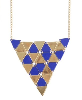 Blue metalic necklace - Forever 21