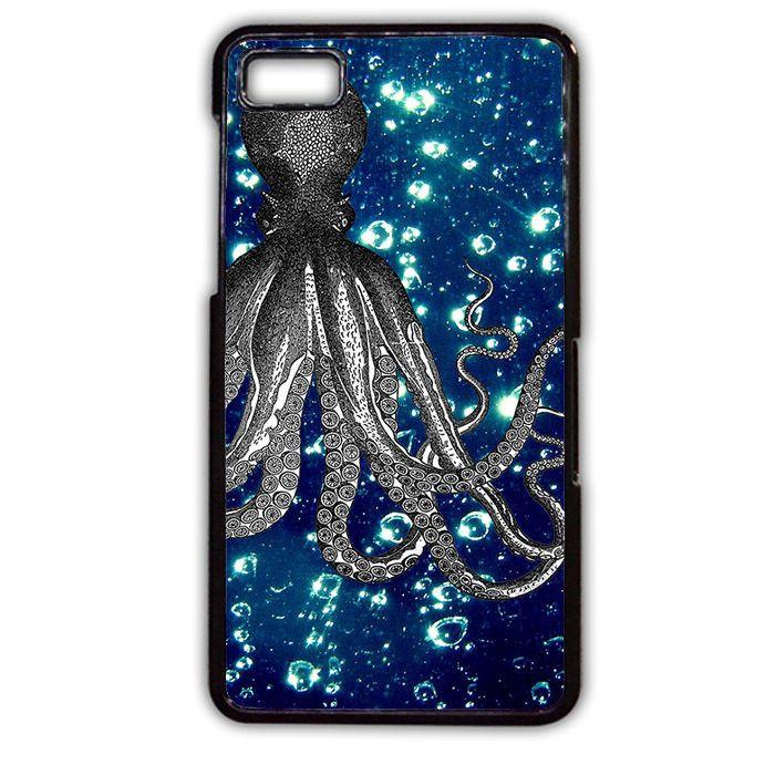 Octopus Blue Ocean Blackberry Phonecase For Blackberry Q10 Blackberry Z10