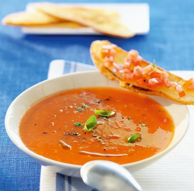 Tomatensuppe                              -                                  Suppenklassiker für die Party oder zu Silvester