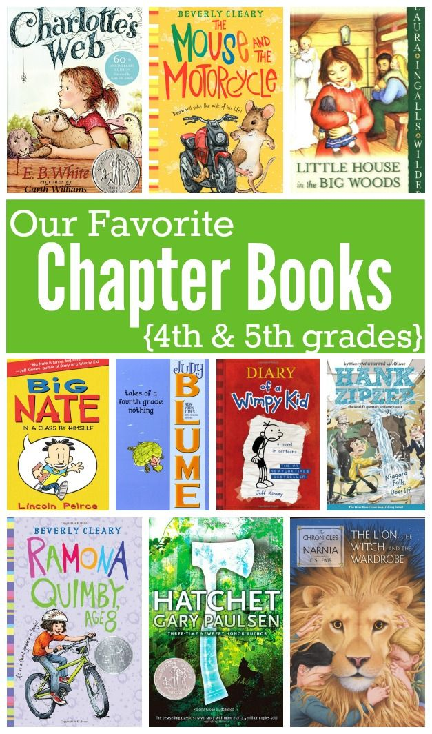 Favorite Chapter Books for Kids in 4th & 5th Grades - This Reading Mama. Fluent readers are more likely to read these books in 2nd and 3rd grade.