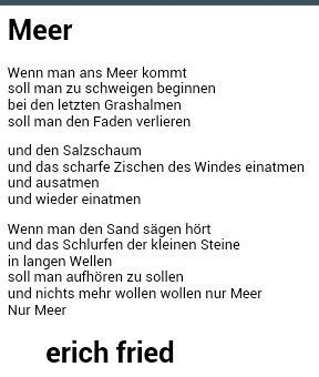 Meer | Erich Fried