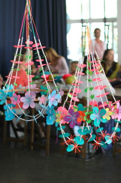 paper chandeliers by Annabel, heatherross - blog