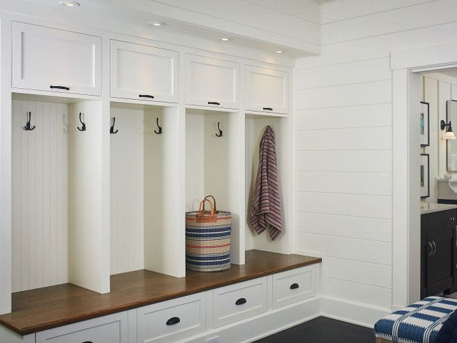 Great Mudroom Four Lockers. Mudroom With Four Lockers, Drawers And Closed Cabinet  Above Lockers. Four Lockers Mudroom Design. Mudroom Four Lockers Design ... Part 24