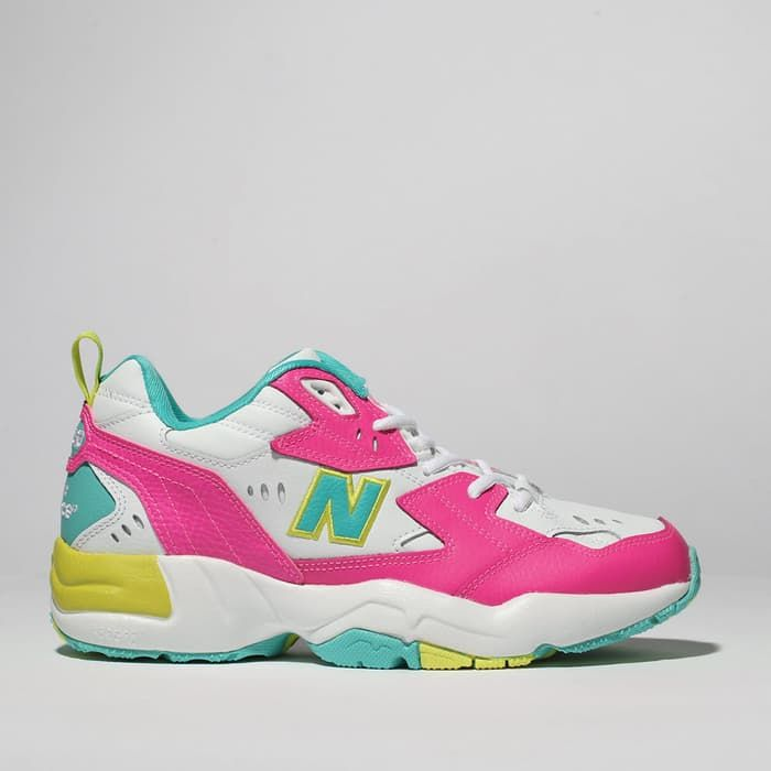 pink new balance 608 trainers | schuh