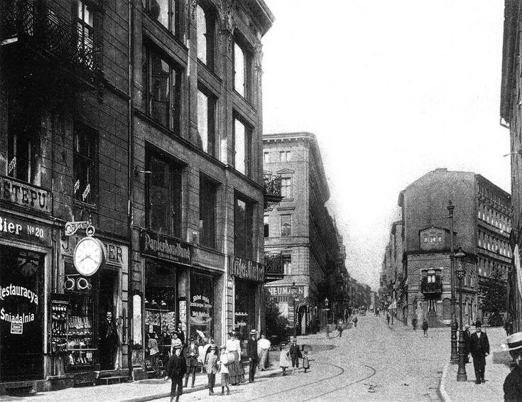 (1925-1935) Widok na ul. Święty Marcin i ul. Podgórną (po prawej).