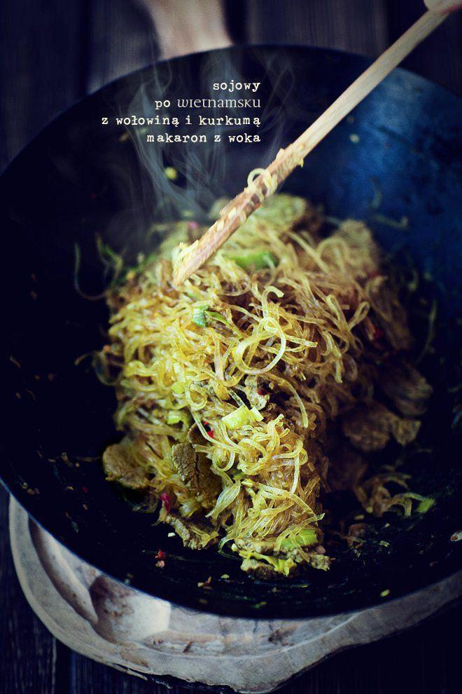 Makaron sojowy z wołowiną
