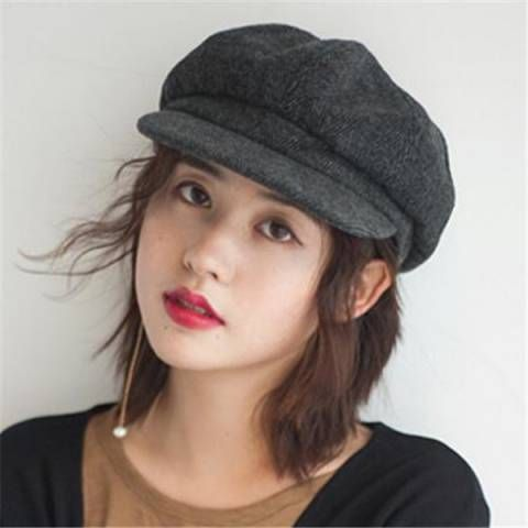 Pin by BUYHATHATS LIMITED on Wool newsboy cap for women winter hats ... 41b19855fb72