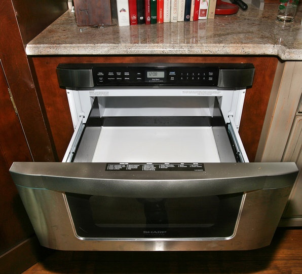 Kitchen Upper Cabinet With Drawers: Top Loading Microwave (drawer). 'Doesn't Use Upper Cabinet