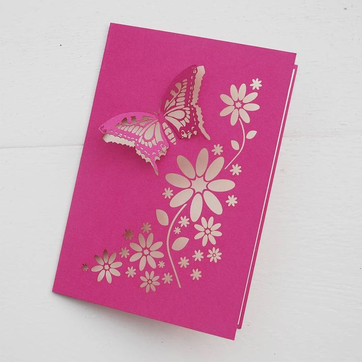Butterfly laser cut card..: