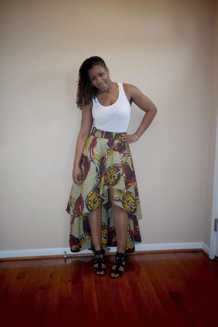 DIY skirt : DIY Ankara High Low Circle Skirt