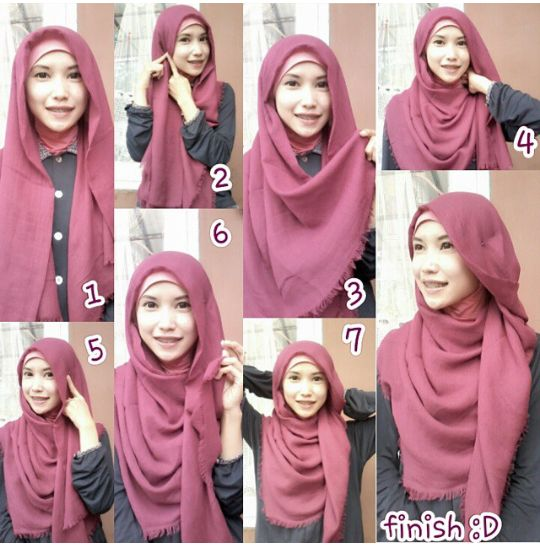 13 best images about Tutorial Hijab on Pinterest | Eyewear