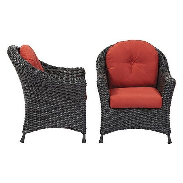 Wonderful Martha Stewart Living Lake Adela Patio Chat Chairs With Spice Cushions    The Home Depot