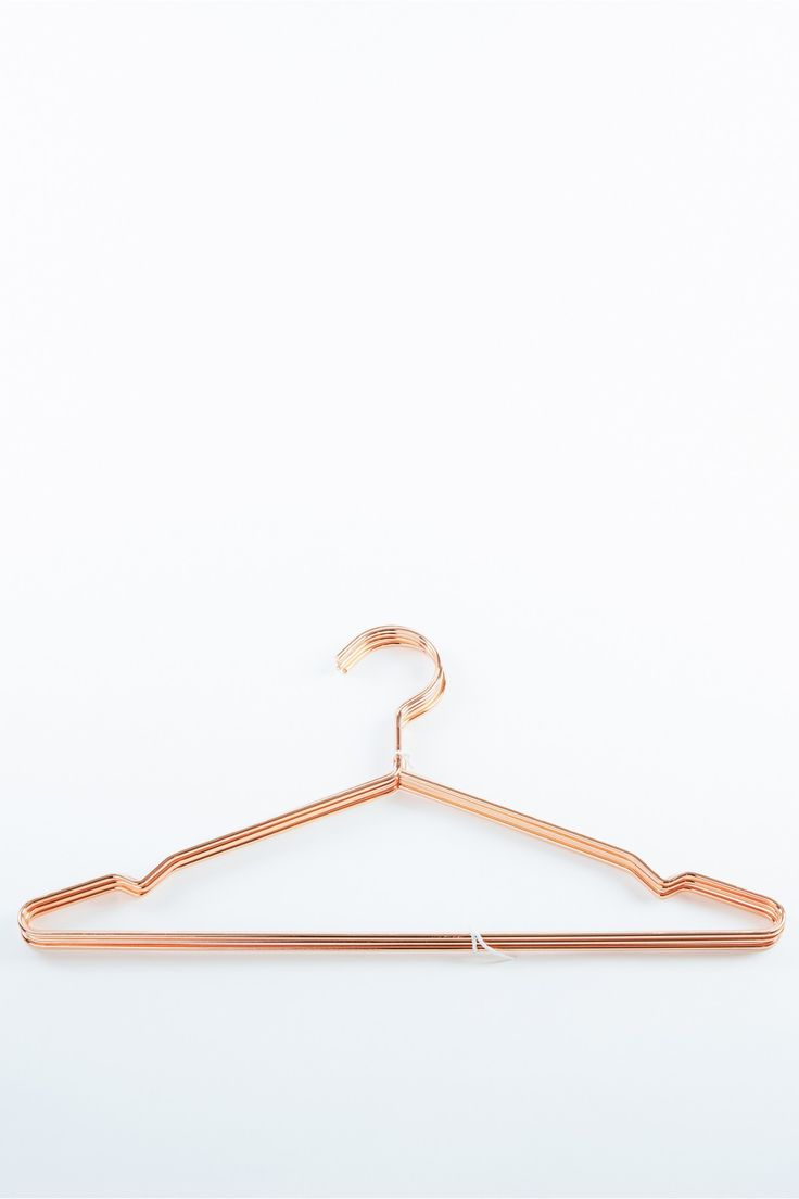 Set of Copper Clothes Hangers. Sexy and simple.