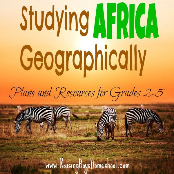 A host of plans and resources for studying Africa with kids. www.RaisingBoysHomeschool.com