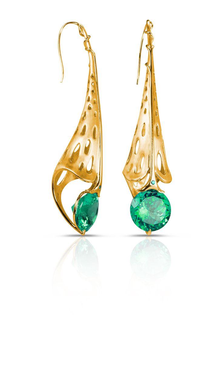 Azalea #earrings with green #topaz by @officialphioro