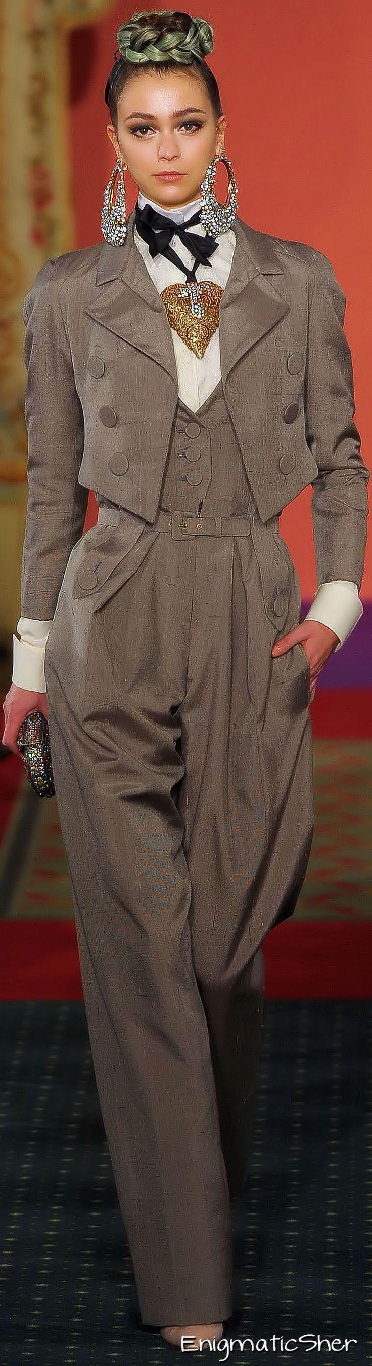 It's a man's world, and it looks so good on a woman! Christian Lacroix Spring Summer 2009 Haute Couture