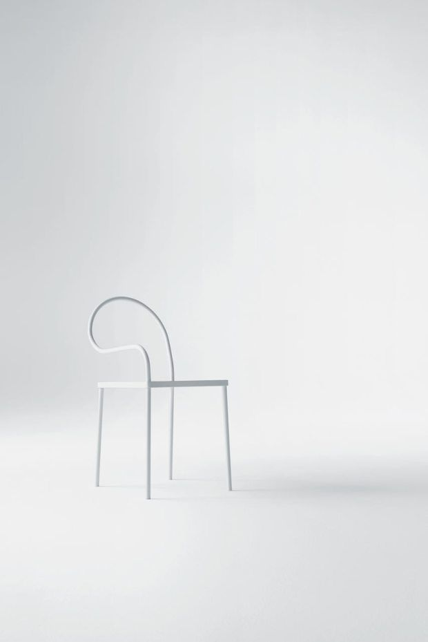 Softer than steel Chair / collaboration between Nendo & Desalto