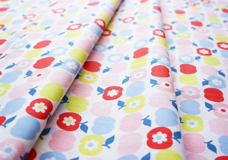 Fabric Finders #1013 Apples Pink