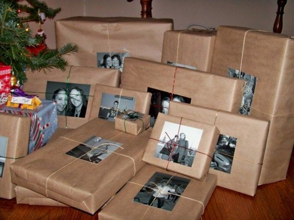 A fun gift tag idea : Photocopy photos of the person that the gift is for and use it in place of gift tags! Great for Christmas.