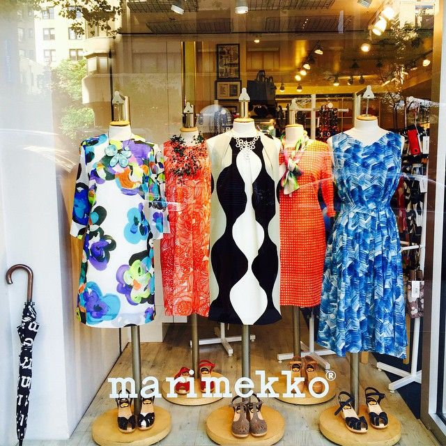@kiitosmarimekko: These are photos of our store, located at 1262 3rd Ave between 72nd and 73rd St, in the Upper East Side of NYC. This is the new window display for June 2015. Items available at http://kiitosmarimekko.com/collections/new-summer-fashion