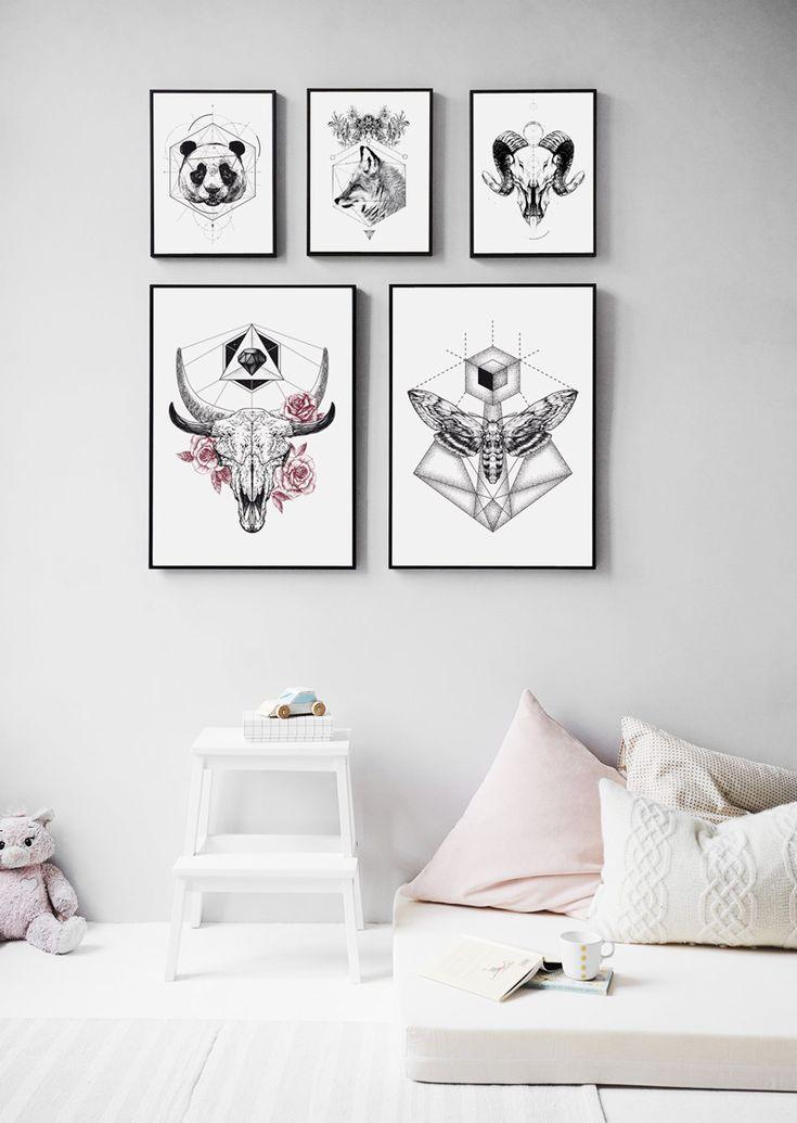 #skull Zwierzaki z Hog studio Poster Plakat interior #home #decor
