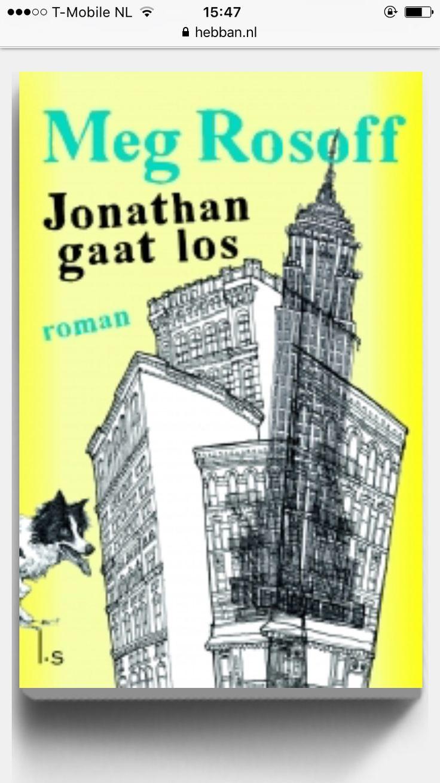 Jonathan gaat los is een Nora Ephron-waardige romantische komedie, voor iedereen die genoten heeft van Het Rosie Project en Mark Haddon. Meg Rosoff werd bekend met Hoe ik nu leef, een wereldwijde bestseller. Ze kijkt met veel humor nét even anders naar de wereld en kan de zoekende twintiger meesterlijk neerzetten.