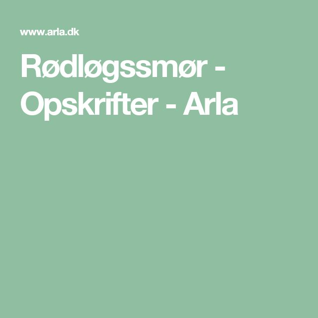 Rødløgssmør - Opskrifter - Arla
