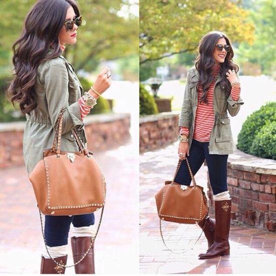military jacket with stripes, What to wear in Thanks-giving day http://www.justtrendygirls.com/what-to-wear-in-thanks-giving-day/