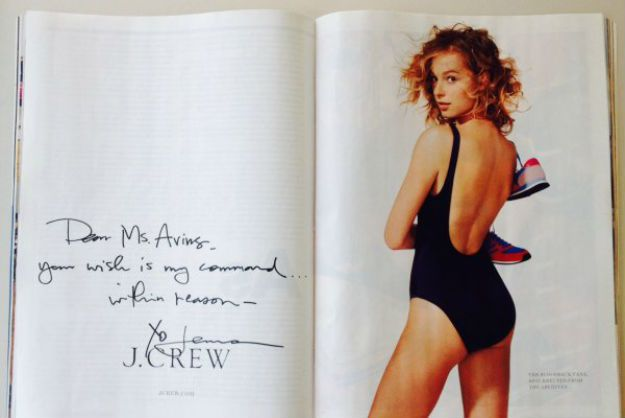 J. Crew's Hand-Written Ad Is Customer Service Perfection