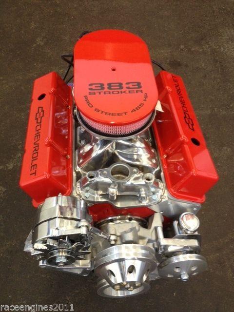 383 STROKER MOTOR 400HP ROLLER TURN KEY PRO STREET CHEVY CRATE ENGINE  SBC CNC
