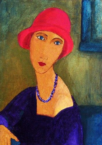 'Janie' Modigliani. http://pinterest.com/pin/431571576761856955/repin/