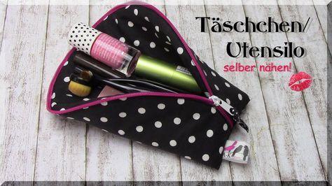 Täschchen / Utensilo selber nähen - Idee