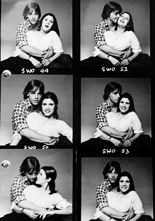 """becketts: """"""""Carrie Fisher and Mark Hamill, 1977 """" """""""