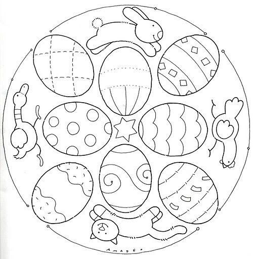 * Mandala: Eieren en dieren!