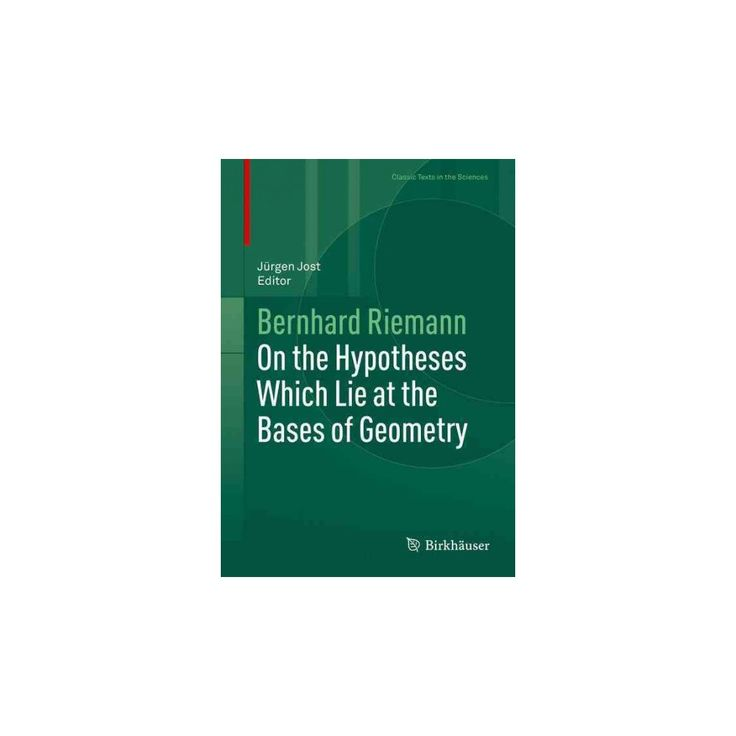 Best 25 bernhard riemann ideas on pinterest book prompts on the hypotheses which lie at the bases of geometry hardcover bernhard riemann fandeluxe Choice Image