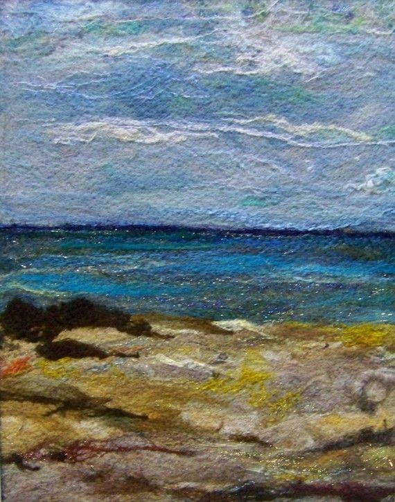 No.597 Ocean View Too - Needlefelt Art XLarge