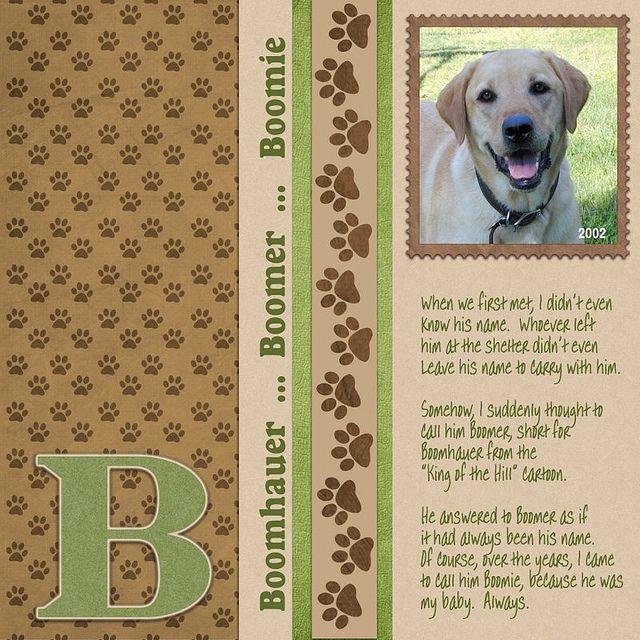 .Dog scrapbook idea