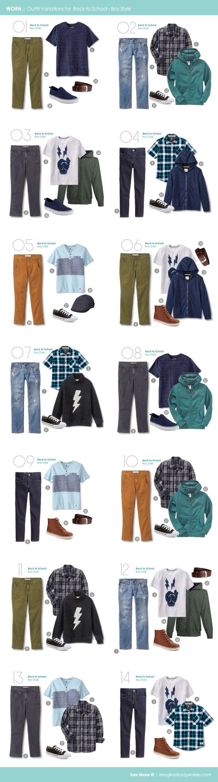 WORN | Back to School Boy Style - Capsule Wardrobe for a Boy | ImaginationSprinkles.com