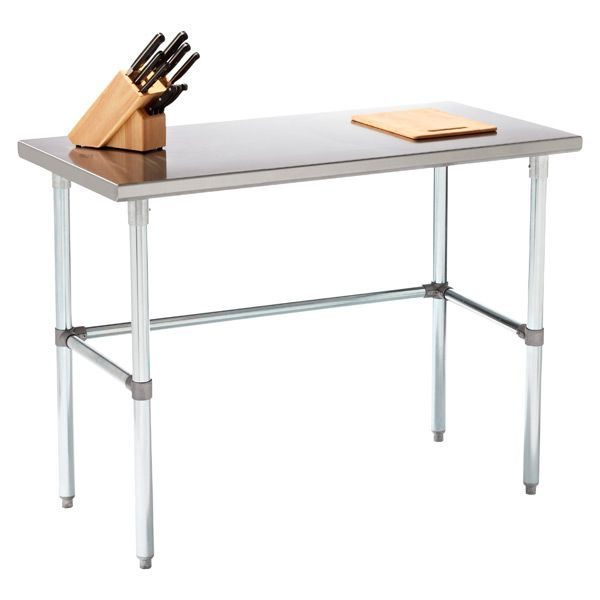 What's New! Although it's designed for use in commercial kitchens, you don't have to have one to enjoy our Stainless Steel Work Table.