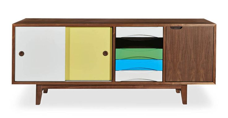 Flexibility to stash the entertainment, clear the dishes or put away the clothes. Centurist Sideboard, a quality reproduction of Arne Vodder's classic 1959 mid-century modern scandinavian design.
