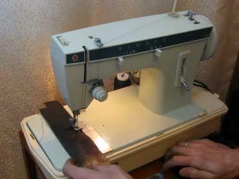 Sewing machine Швейная машина Singer 257 кожа sew leather