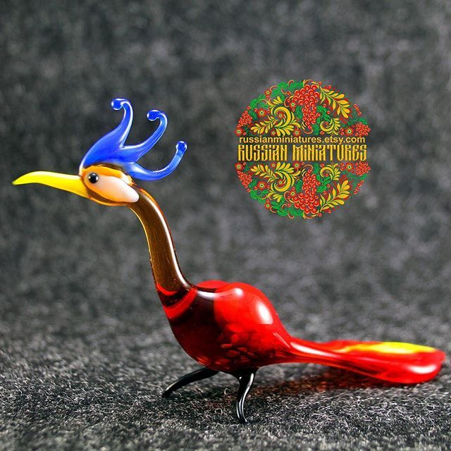 Glass  peacock Bird.  Check out here: https://goo.gl/gKYVTe Birds collections: https://goo.gl/P4mmF4 -------------- Follow us @russianminiatures if you love glass figurines! Made in  Russia St. Petersburg.Worldwide shipping. Update pictures everyday ! -------------- Follow us on: - https://goo.gl/NKk858 -------------- #russianminiatures #handmade