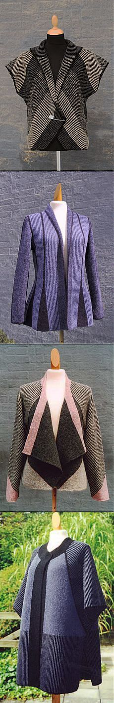 Beautiful Russian Knitting Inspiration! No directions, but you can see that this is modular and short row knitting done with great expertise! ❤️ KnittingGuru http://www.pinterest.com/KnittingGuru