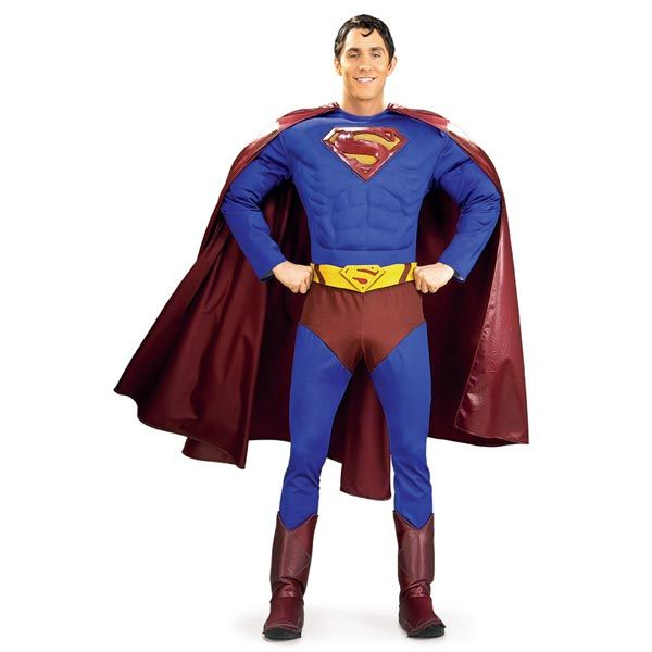Supreme Superman Adult Muscle Chest (Lycra) - Adult Costumes